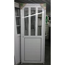 Aberturas: Puerta Aluminio Blanco Rep Vertical 0,80 X 2,00
