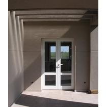 Puerta De Abrir De Aluminio, Doble Hoja Vidriada