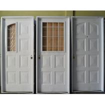 Puerta, De Chapa Simple Reforzada, 0.80x2.00