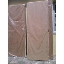 Puerta Placa Ench. En Cedro 0.70x2 Tab. De 15 Marco Chapa 18