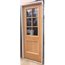 Puerta Placa Cedro 1/2 Vidrio Repartido Chapa 18 70x200