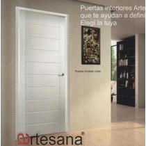 Puerta Interior Marco De Madera Modelo Sofia 0.80x2.00 (t10)