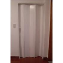 Puerta Plegadiza Con Bisagra De Madera Laca Blanca De 0.80m.