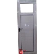 Aberturas Puerta Aluminio Bco 1/4 Vidrio Entero 70 X 2 Agma
