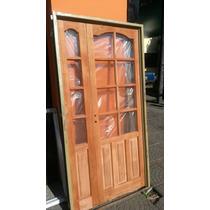 Puerta Y Media De Cedro Maciza De 120x200 Extra Porch