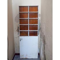 Puerta Exterior De Metal Y Vidriada 200 X 71