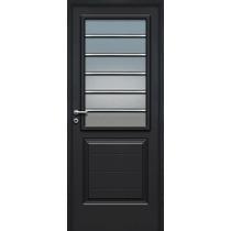 Puerta Pavir Florencia Negra Vidrio Horizontal Premium 80 Cm