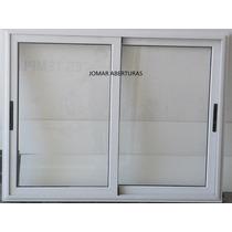 Ventana Corrediza Modena 150x110 Aluminio Blanco