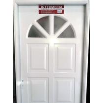Aberturas Puerta Exterior Nexo Inyectada Sol Con Vidrio 80x2