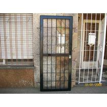 Puerta Reja Caño Hierro Masiso 80cm X 2 Metros Nueva!