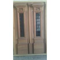Puerta Antigua Doble De Cedro