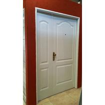 Puerta Y Media Residencial Blanca 80 Cm + Lateral De Abrir