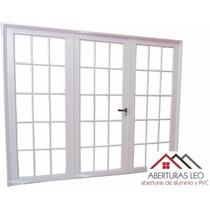 Porton Garage Aluminio Reforzado Vidrio Repartido 240x200
