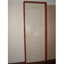 Puerta Placa Dos Tableros Mold. Bcas De 080x200 Extra Porch