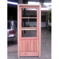 Puerta Medio Vidriode 080x200 M/madera Extra Porch