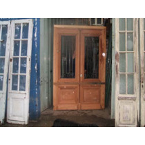 Puerta De Frente Antigua De Cedro Restaurada