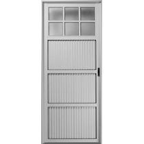 Puerton De Aluminio Blanco 240 X 200 1/4 Vidrio