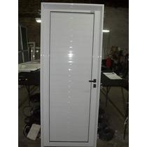 Puerta Exterior Aluminio 80x200 Blanco Ciega Reforzada