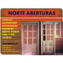 Puertas Medio Vidrio Algarrobo