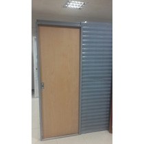 Puerta Corrediza De Embutir Cedro Marco De Chapa 18 De 070