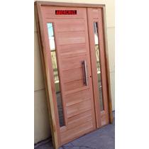 Puerta Y Media Residencial Cedro Con Barral Vidrio Espejado
