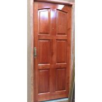 Puerta Exterior Madera Cedro Macizo Modelo 6 Tableros 80x200