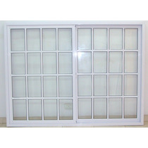 Ventanal Aluminio Blanco Vidrio Repartido 200x150 Con Vidrio