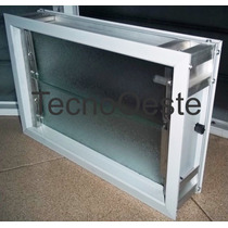 Ventiluz Aireador Aluminio Blco 40x26 Reja Mosquitero Vidrio
