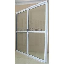 Puerta Ventana Balcón Aluminio Blanco Vidrio Entero 240x200