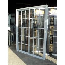 Puerta Ventana 1.50 X 200 Aluminio Blanco Repartido C/vidrio