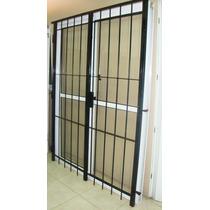 Aberturas Puerta Ventana 240x200 Aluminio C/reja Cerradura
