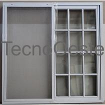 Ventana Aluminio Blanco Repartido 150x150 Vidrio Mosquitero