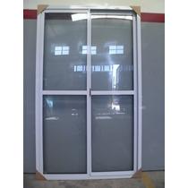 Ventana De Aluminio Blanco 120x200 Con Vidrio