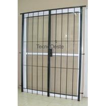 Puerta Ventana 180x200 Aluminio Blanco Cvidrio Y Puerta Reja