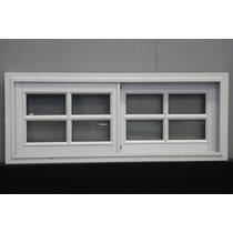 Ventana De Aluminio Blanco 120x40 Vidrio Repartido