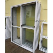 Puerta Ventana Balcon Aluminio Blanco C/vidrio 150x200 Va014