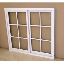Ventana Aluminio Blanco Repartido 120x110 C/vidrios Oferta!!