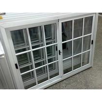 Ventana Vidrio Repartido 150x110 Aluminio Fabrica