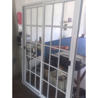 Ventana Puerta Balcon Vidrio Repartido 2x2 Aluminio