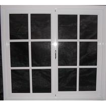 Ventana De Aluminio 120 X 110 Vidrio Repartido Blanco