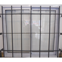 Ventana De Aluminio 120 X 110 Con Reja Reforzada Hierro 1/2