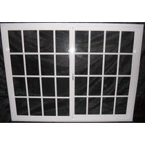 Ventana De Aluminio 200 X 150 Vidrio Repartido, Con Ruleman