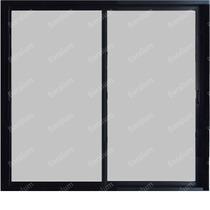 Ventana Aluminio Negro Vidrio 4mm 180x110 Premium