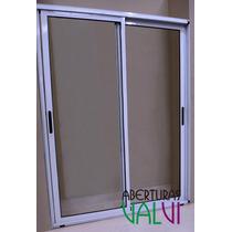 Ventana De Aluminio 150 X 200 Modena Balcon Vidrio Entero