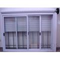 Ventana Aluminio Blanco150x110 Con Vidrio+persiana+reja+mosq