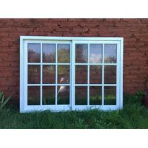 Ventana De Aluminio Blanco 150x110 Vidrio Repartido