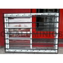 Ventana Aluminio Rep. Horizontal 150x110 C/ Reja Horizontal