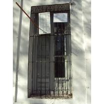 Ventana/puerta Colonial 2 H Con Postigos De Madera Y Reja