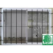 Ventana 150x110 Aluminio Blanco Vidrio Entero Con Reja