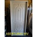 Puerta Chapa Doble Faz Inyectada Ciega 80 X 200